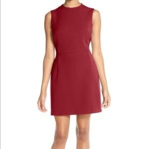 French Connection Sundae Solid berry dress